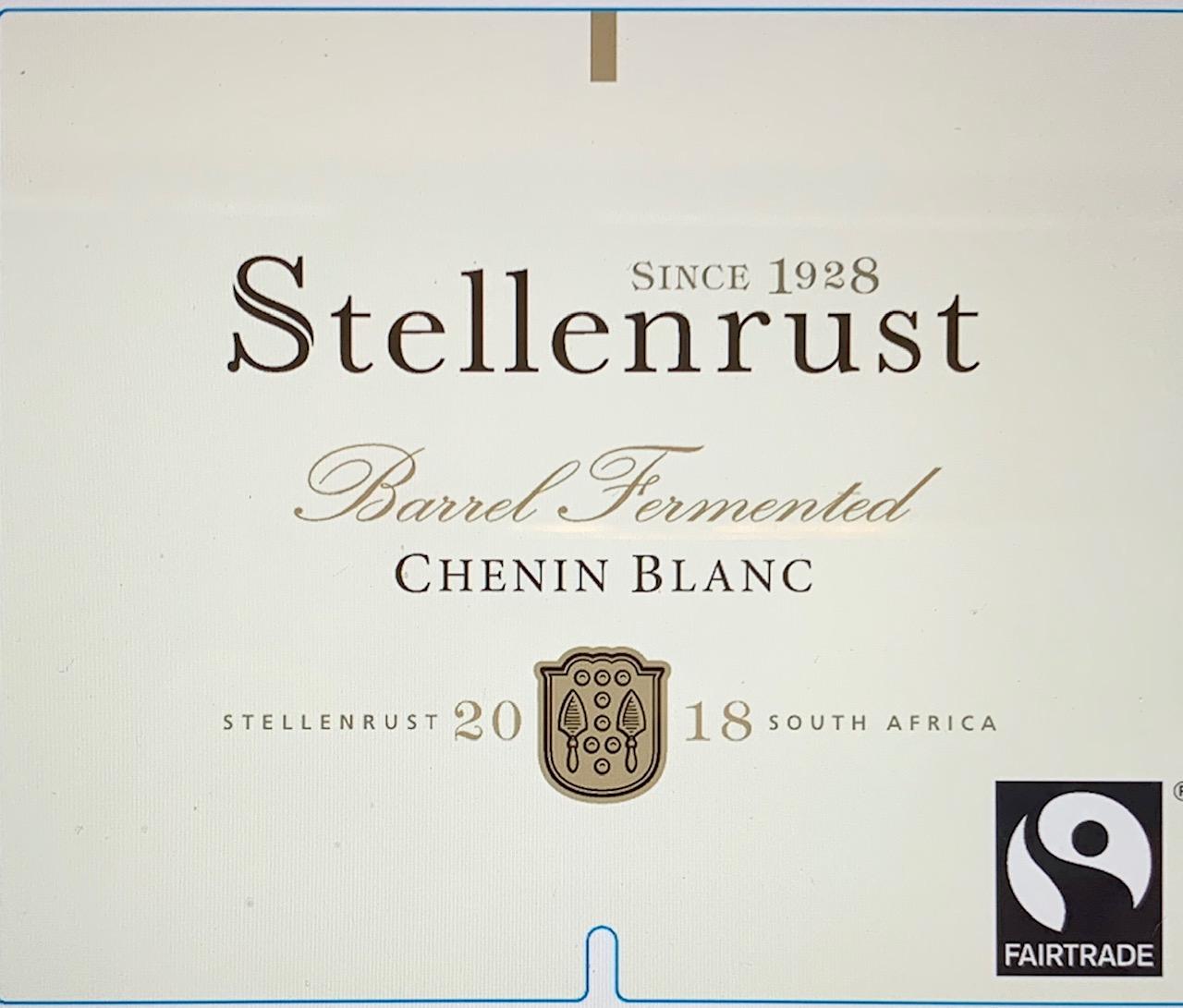 Stellenrust Block 28 Chenin Blanc