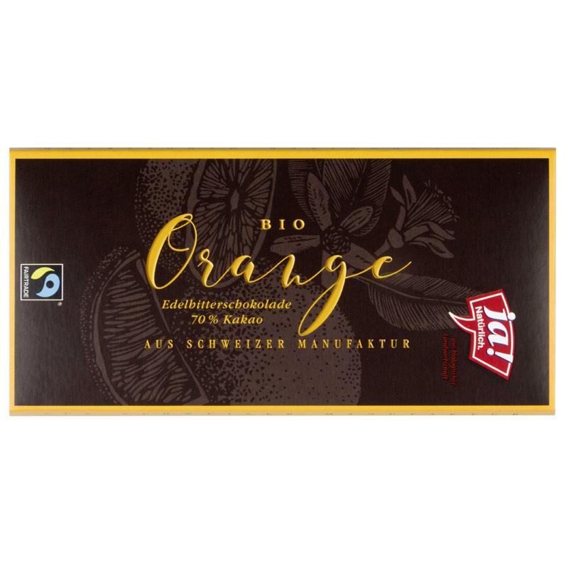 Edelbitter Schokolade Orange