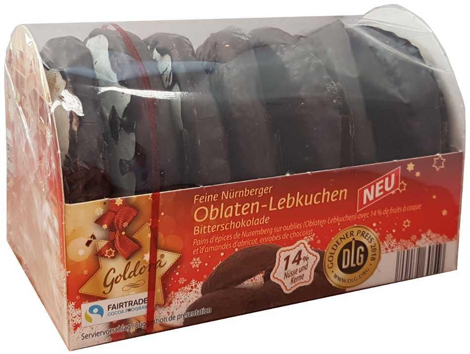 Oblatenlebkuchen dunkle Schokolade