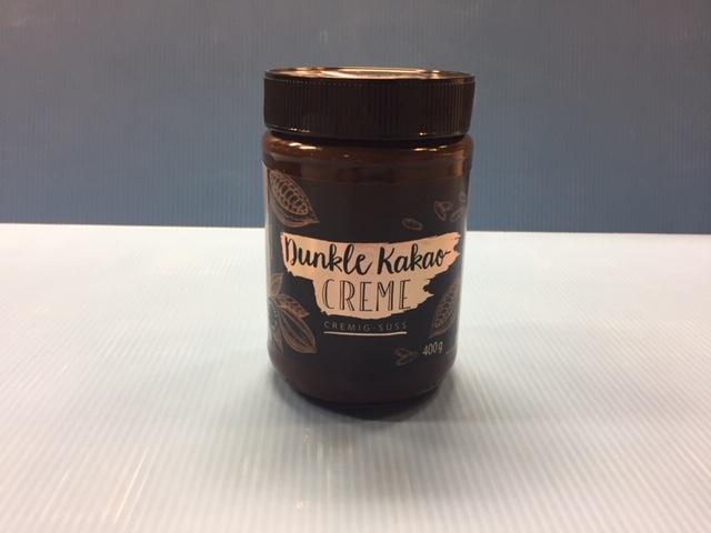 Dunkle Kakaocreme