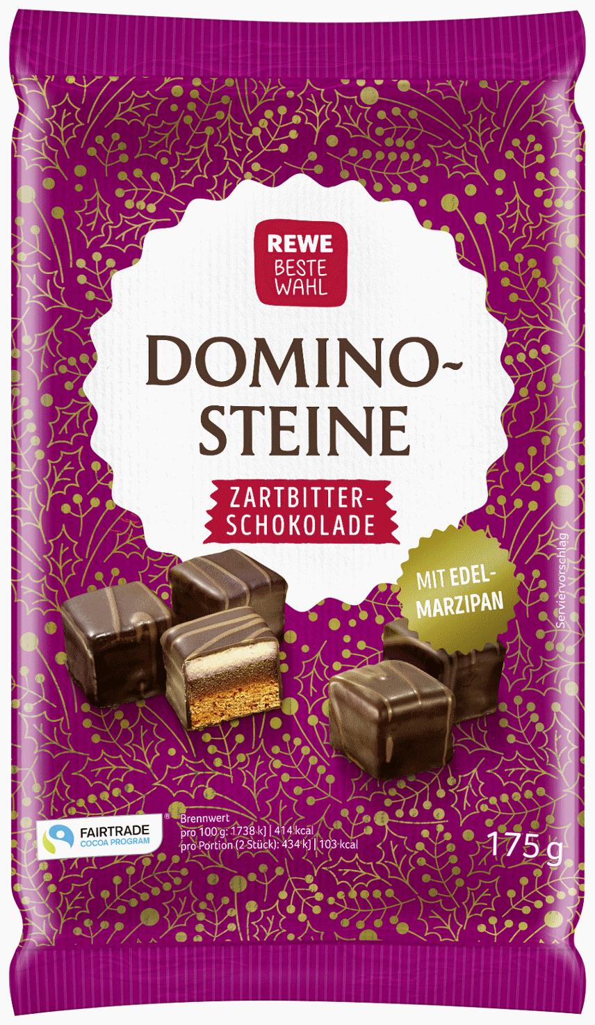 Edelmarzipan-Dominosteine in Zartbitterschokolade