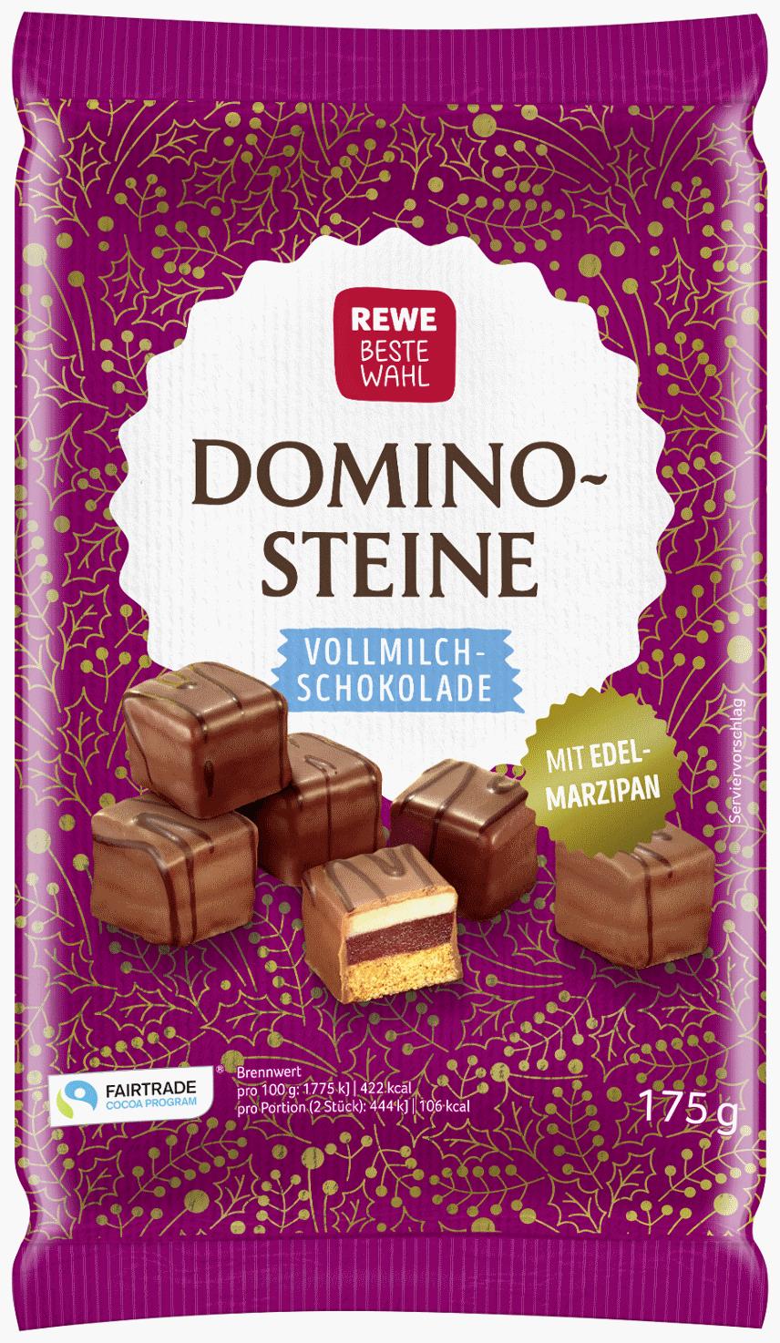 Dominosteine mit Vollmilchschokolade