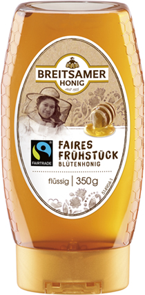 Faires Frühstück Blütenhonig flüssig Spender