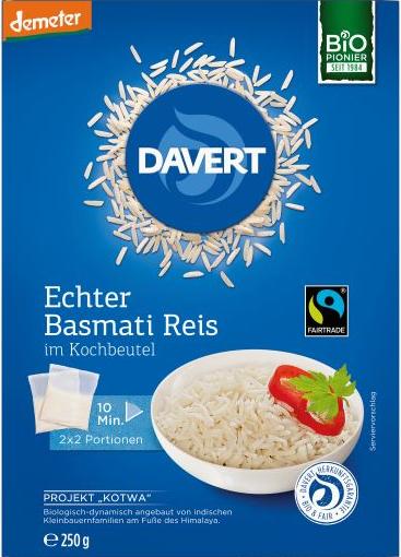 Basmati Demeter Reis im Kochbeutel