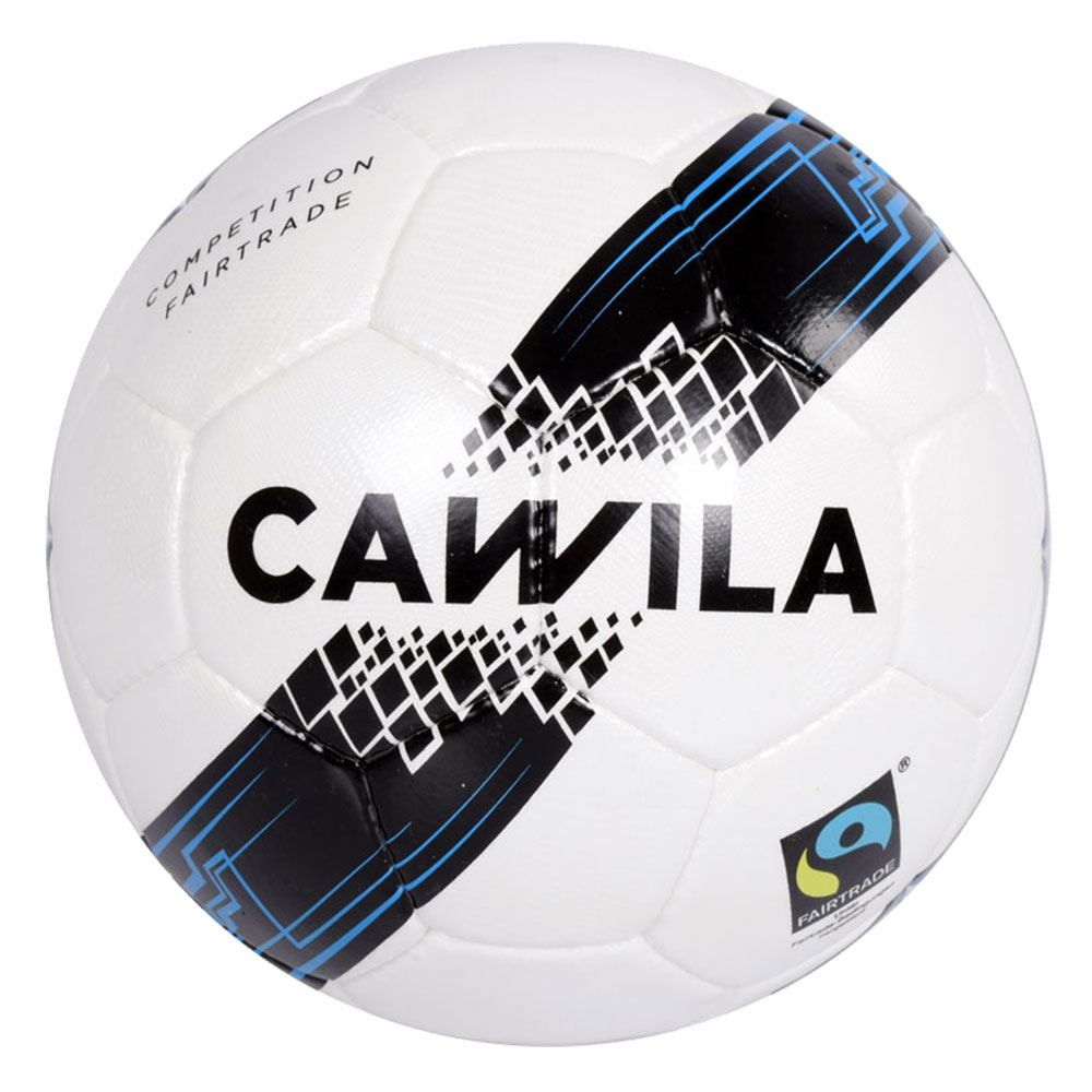 Cawila Fußball ARENA COMPETITION - weiß-schwarz-fairblue - Size: 5