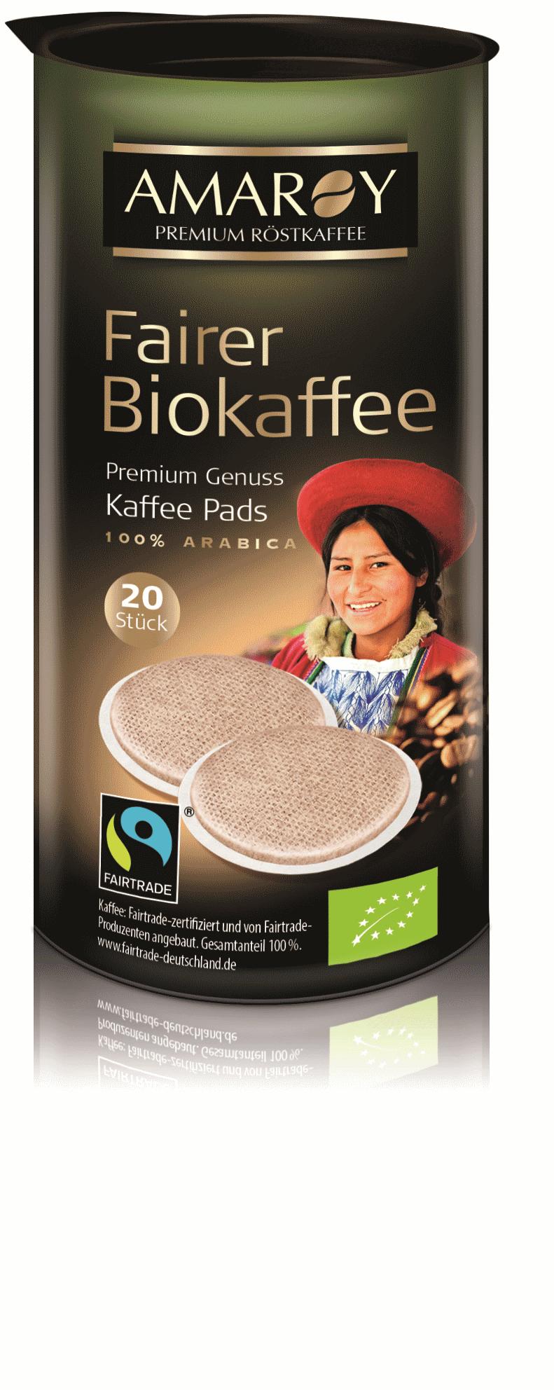 Fairer Biokaffee Pads
