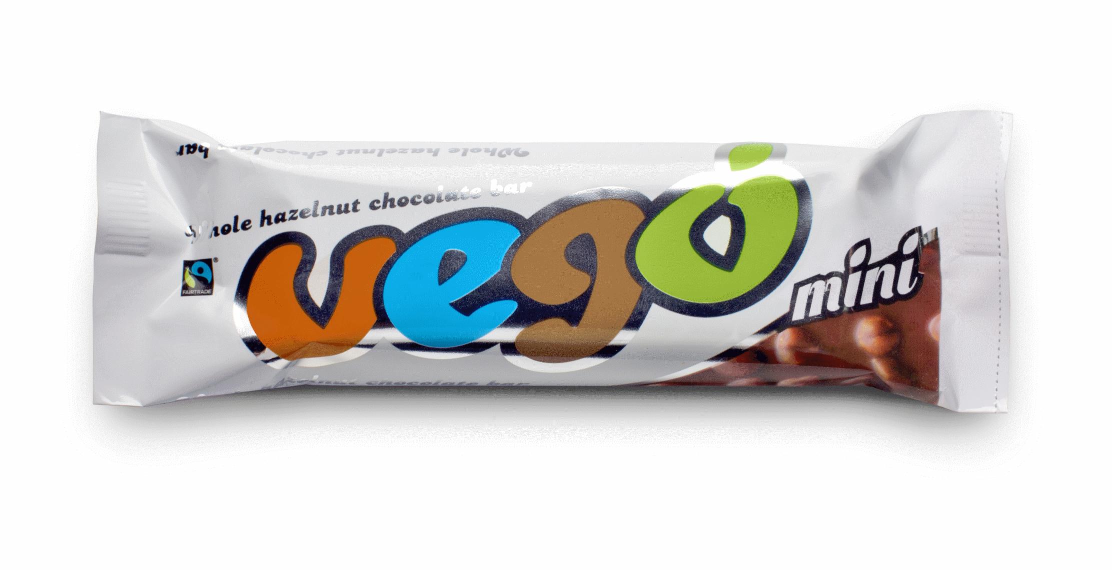 Vego mini Whole Hazelnut Chocolate Bar CONV, 65g