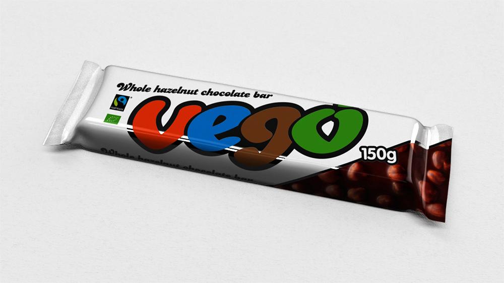Vego Whole Hazelnut Chocolate Bar ORG, 150g