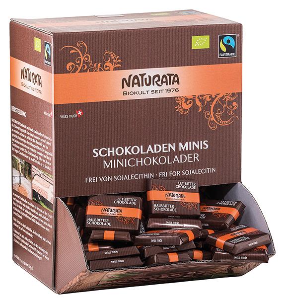 Schokoladen Minis, Halbbitterschokolade (150x5,5g)