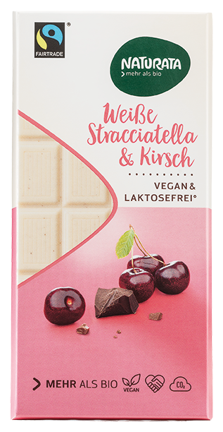 Weiße Stracciatella & Kirsch, laktosefrei & vegan