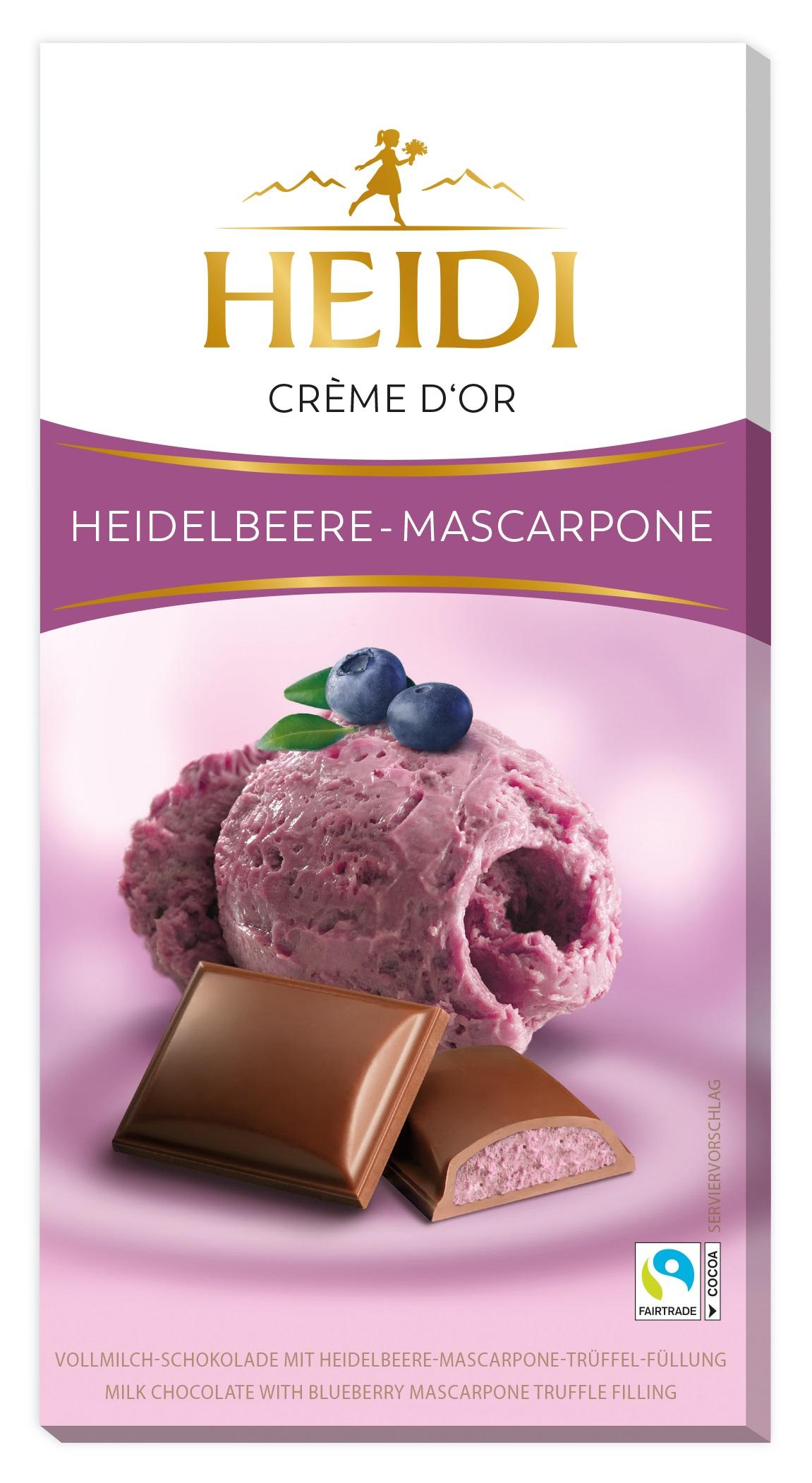 Heidelbeere Mascarpone Schokoladetafel