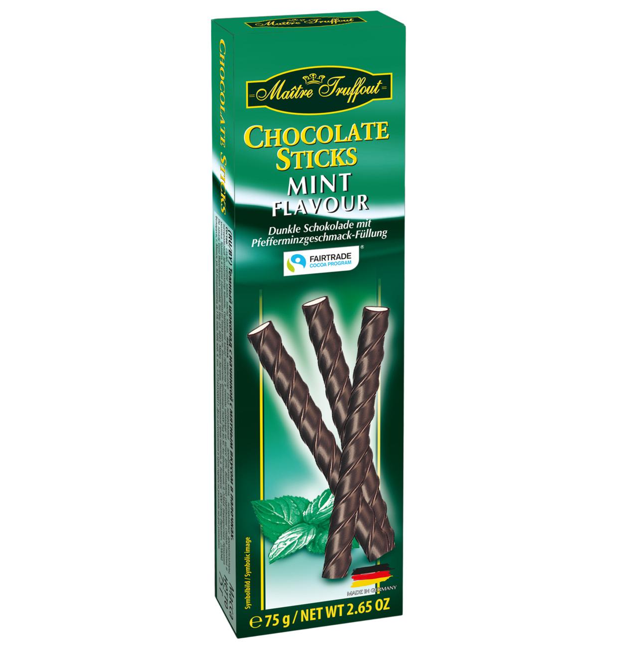 Zartbitterschokoladesticks Minze