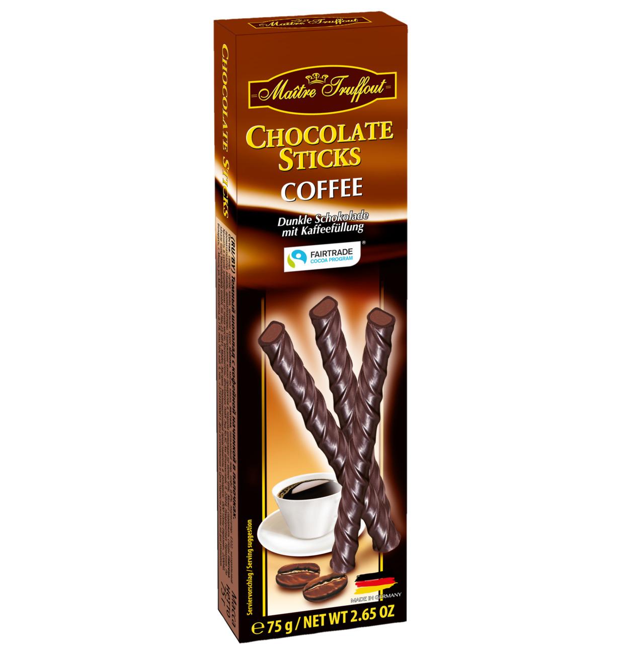Zartbitterschokoladesticks Kaffee