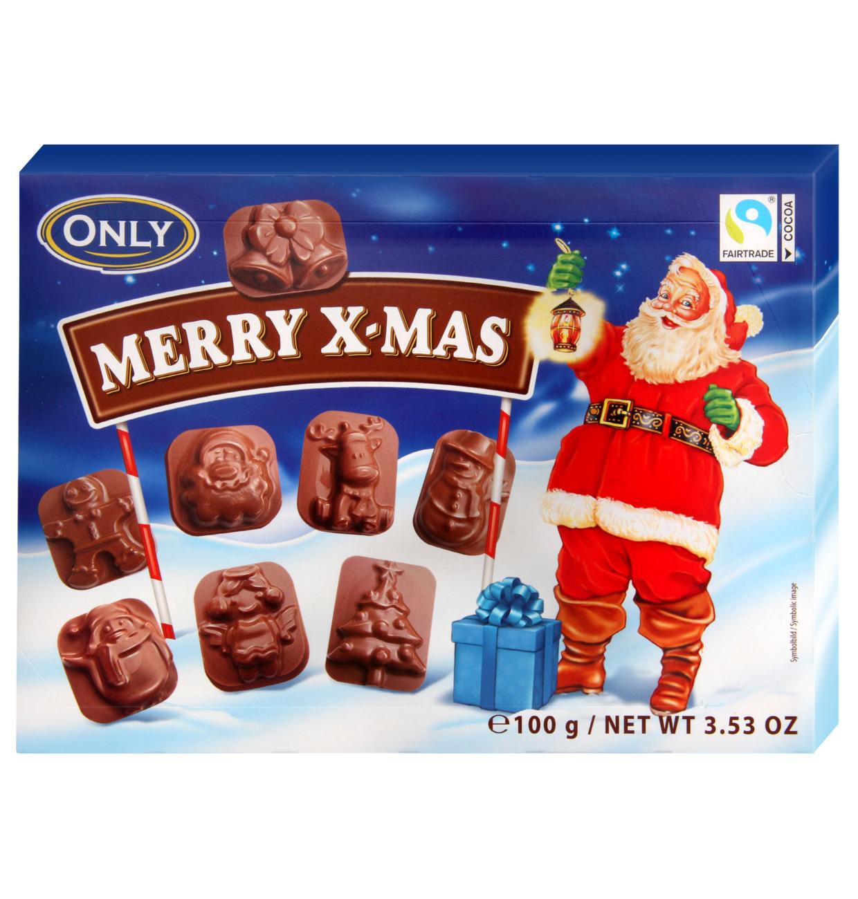 Vollmilchschokolade Merry X-mas Figuren