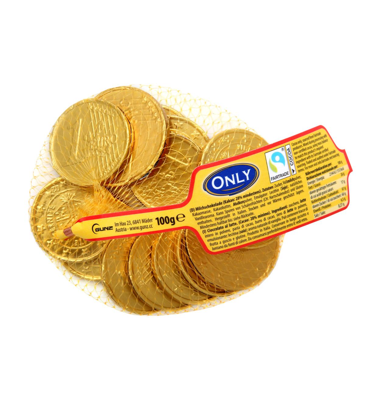 Goldmünzen Milchschokolade