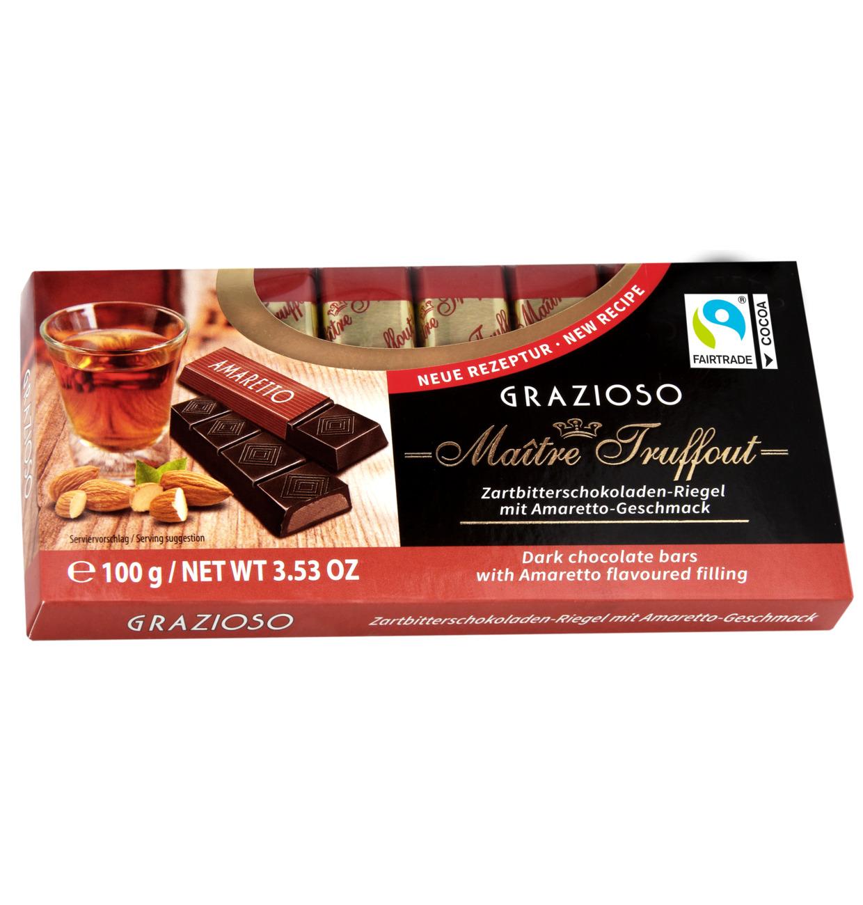 Grazioso Zartbitterschokolade mit Amarettocreme