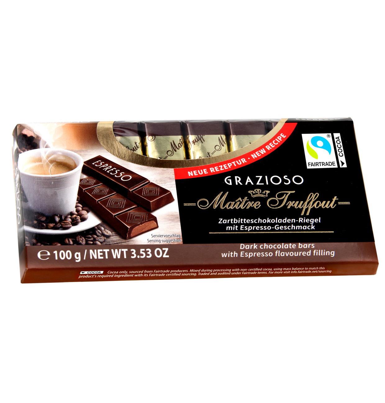 Grazioso Zartbitterschokolade mit Espressogeschmackfüllung