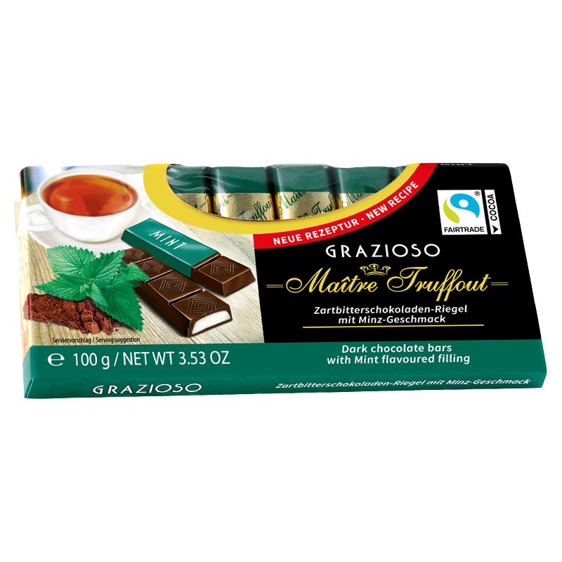 Grazioso Zartbitterschokolade mit Minzecreme