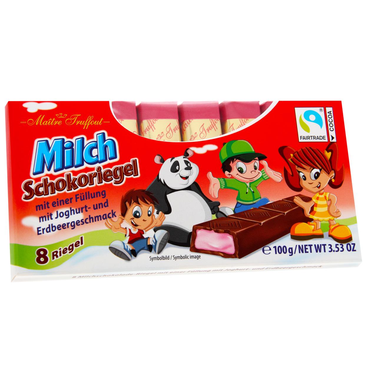 Milchschokolade mit Erdbeer-Joghurtcremefüllung
