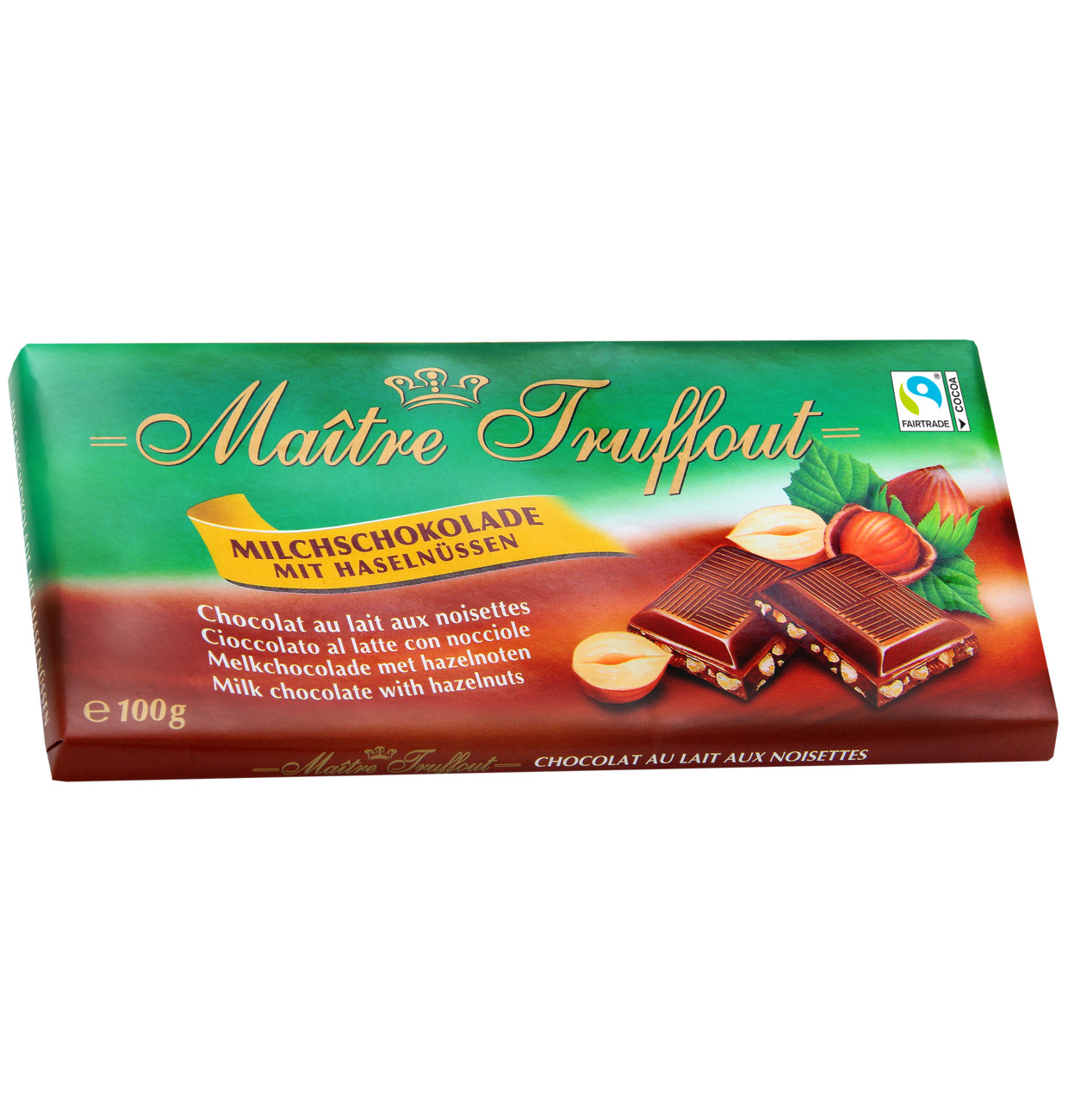 Milchschokolade mit Haselnuss