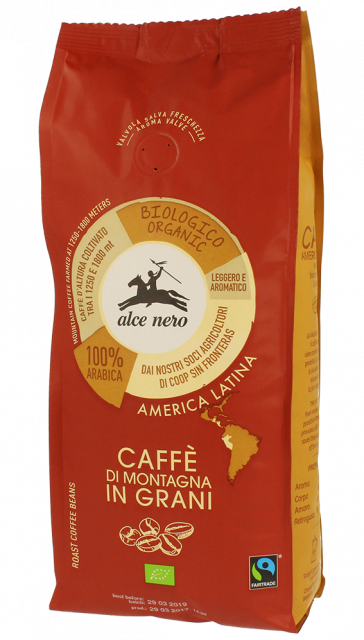 Alce Nero - Caffè in grani arabica BIO - 500gr