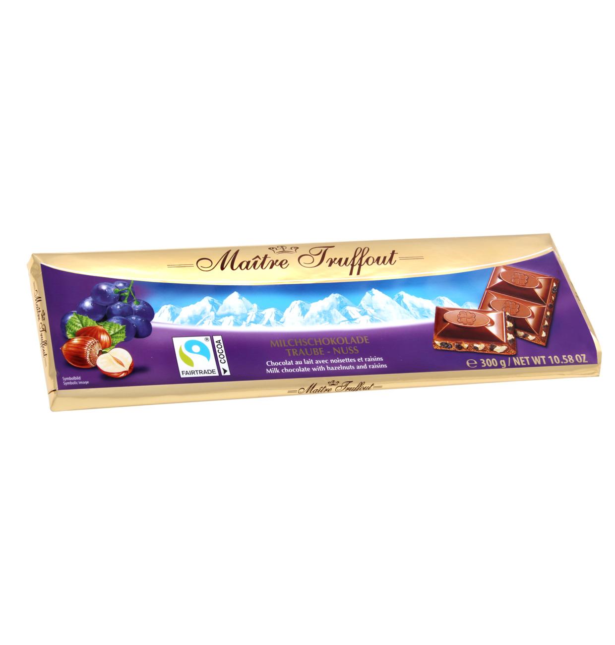 Milchschokolade Traube Nuss