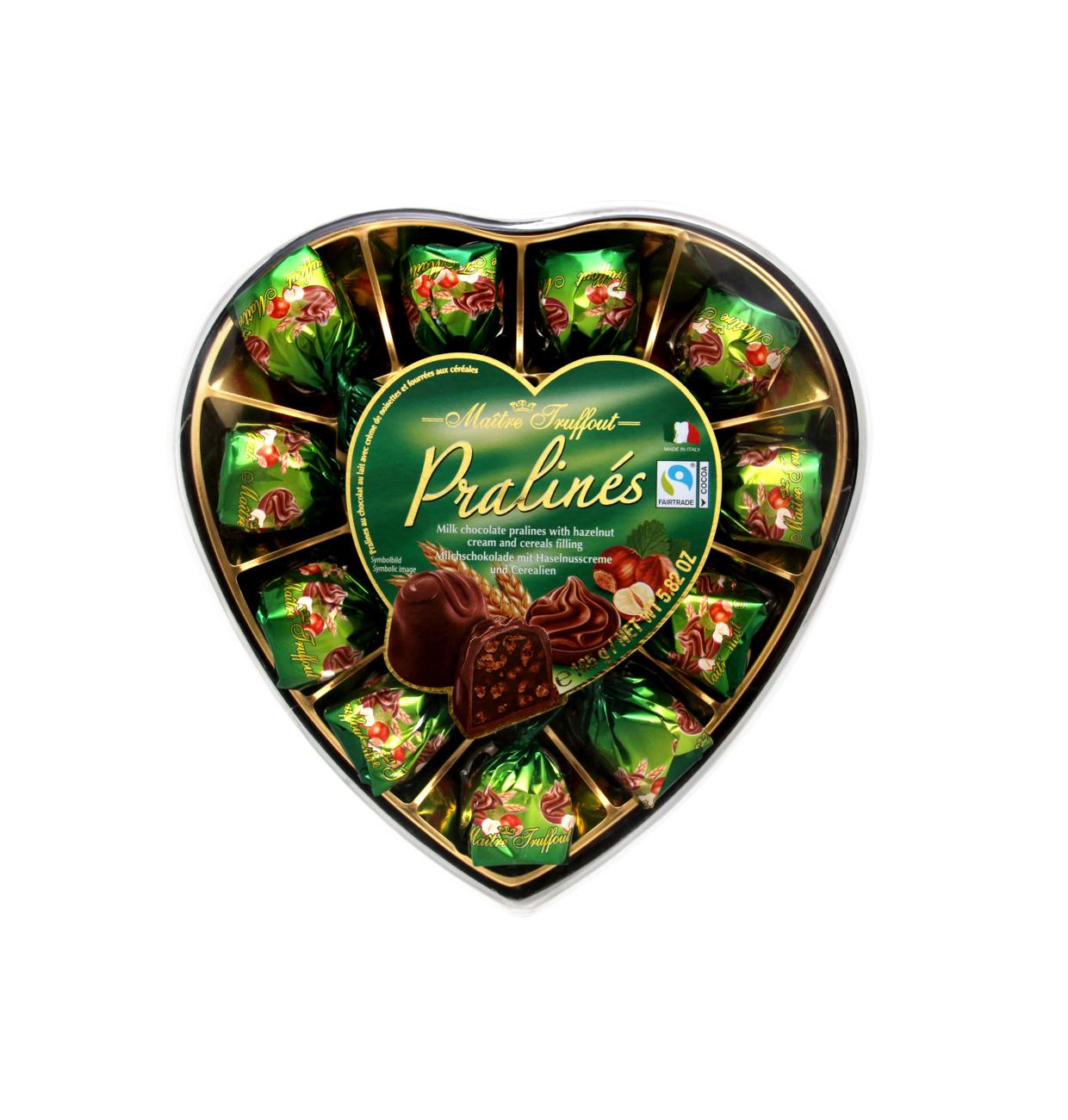 Pralinen Milchschokolade Haselnuss & Cerealien Herz