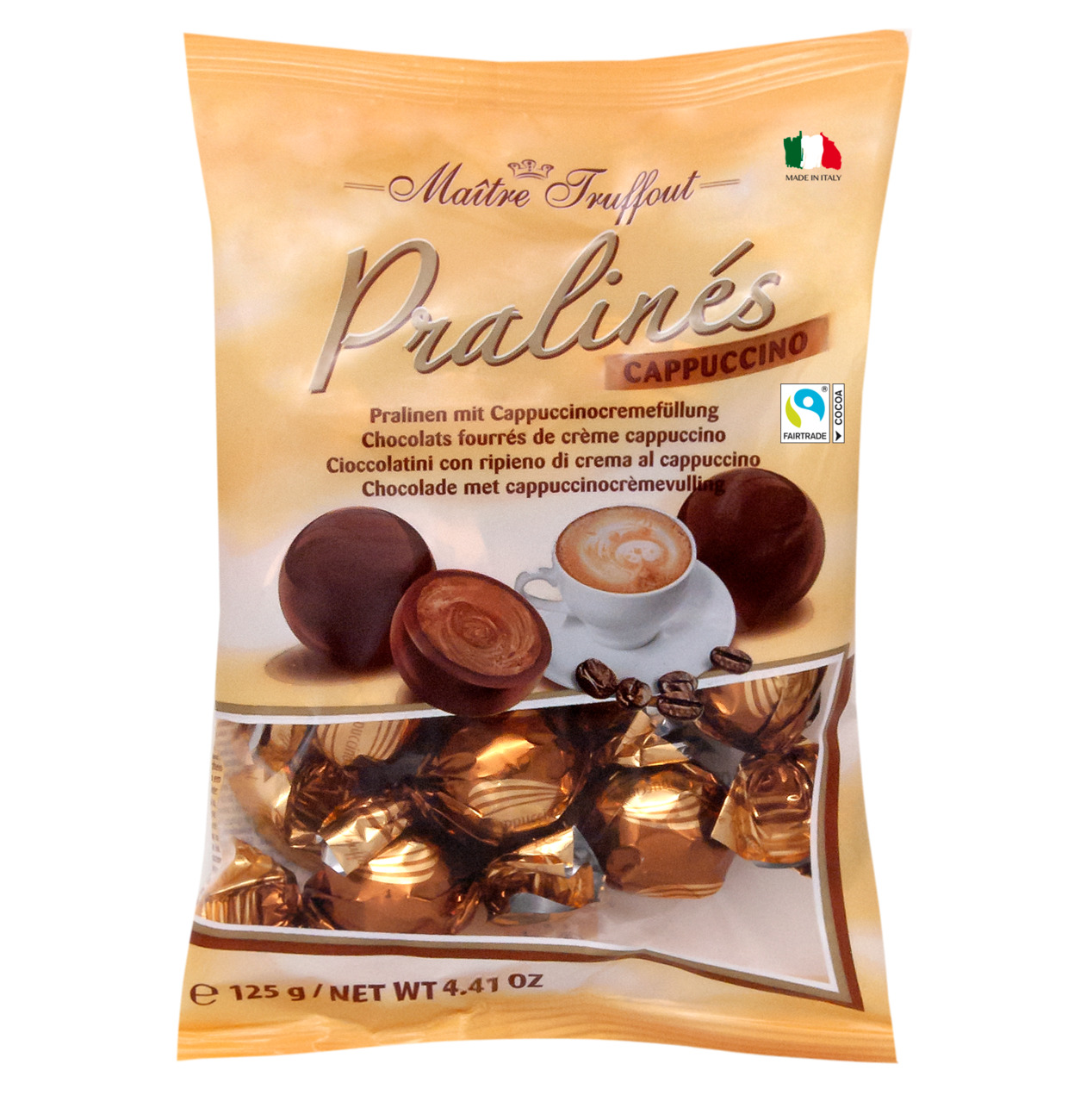 Pralinen Milchschokolade mit Cappuccinocremefüllung
