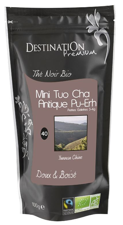 DP BIO THE NOIR PU-ERH  ANTIQUE MINI TUO CHA BIO MH
