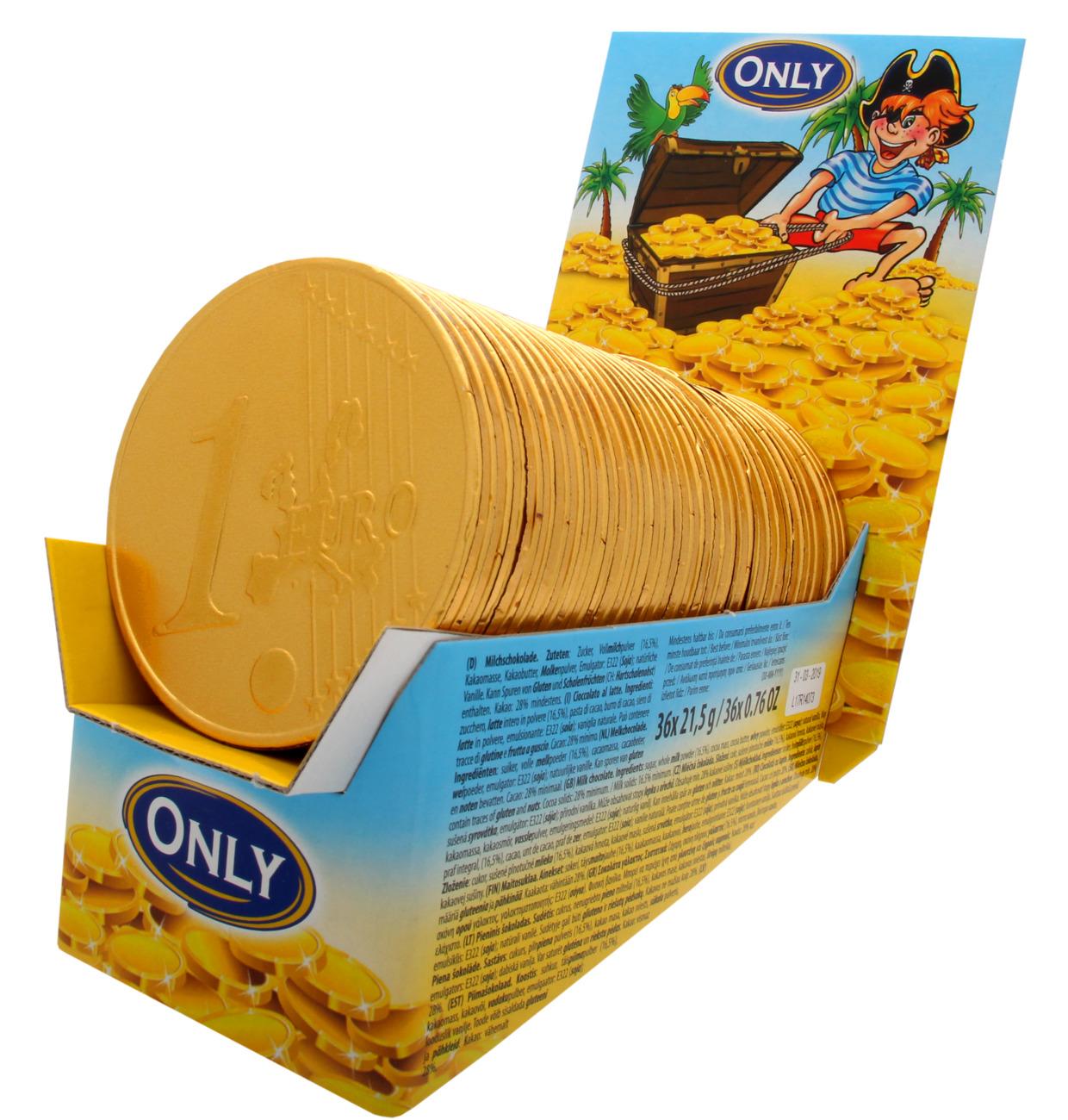 DISPLAY Riesengoldmünzen Milchschokolade Thekendisplay