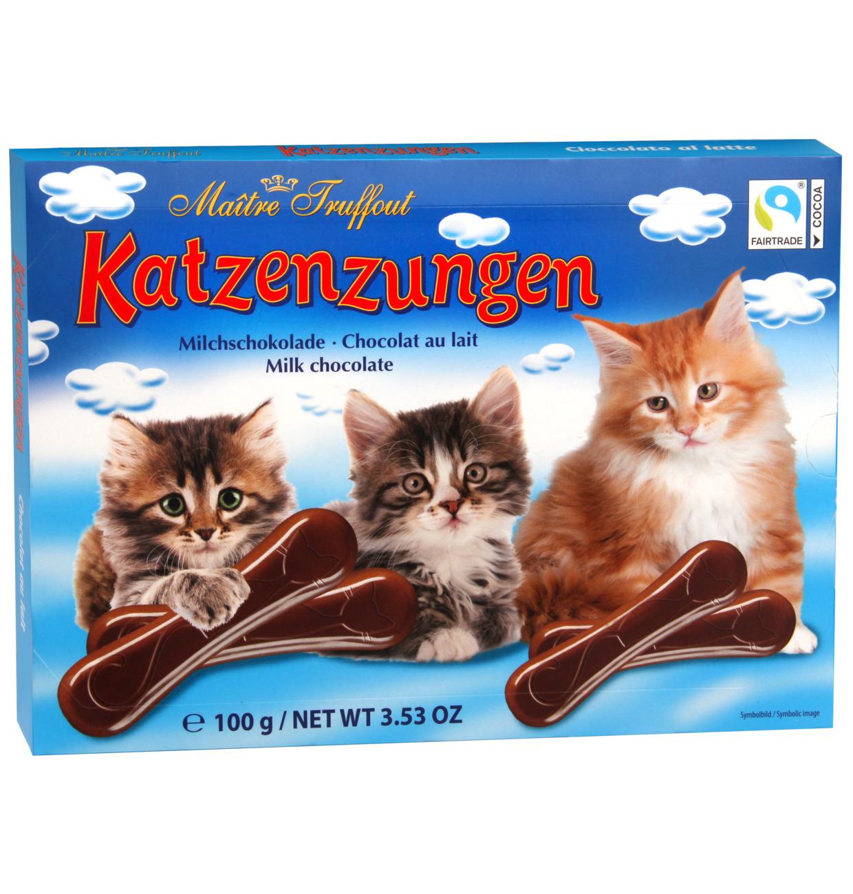 Vollmilchschokolade Katzenzungen