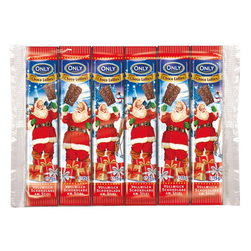 Weihnachts-Vollmilchschokolollies