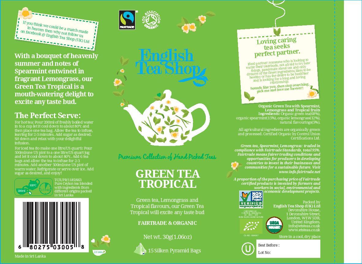 Green Tea Tropical - 15 pyramid tin