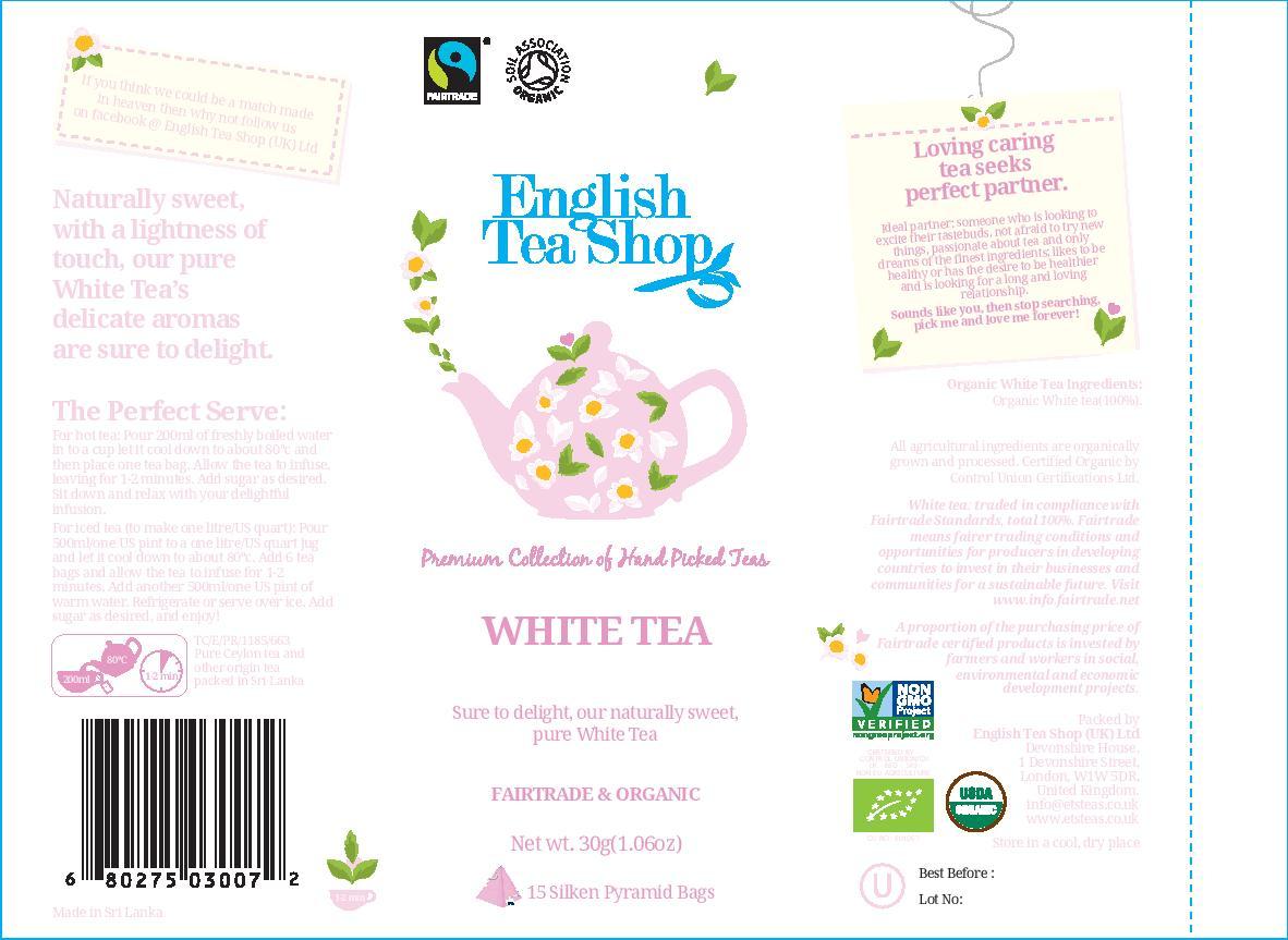 White Tea - 15 pyramid tin