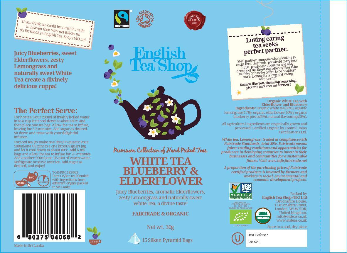 White Tea Blueberry & Elderflower - 15 pyramid tin