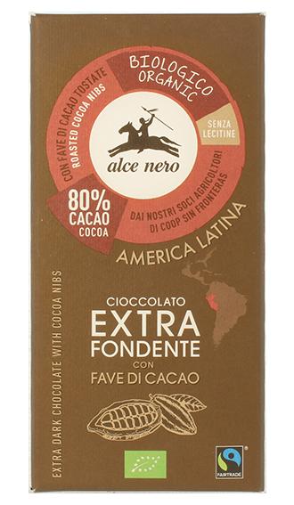 Alce Nero – Cioccolato fond fave BIO 100gr