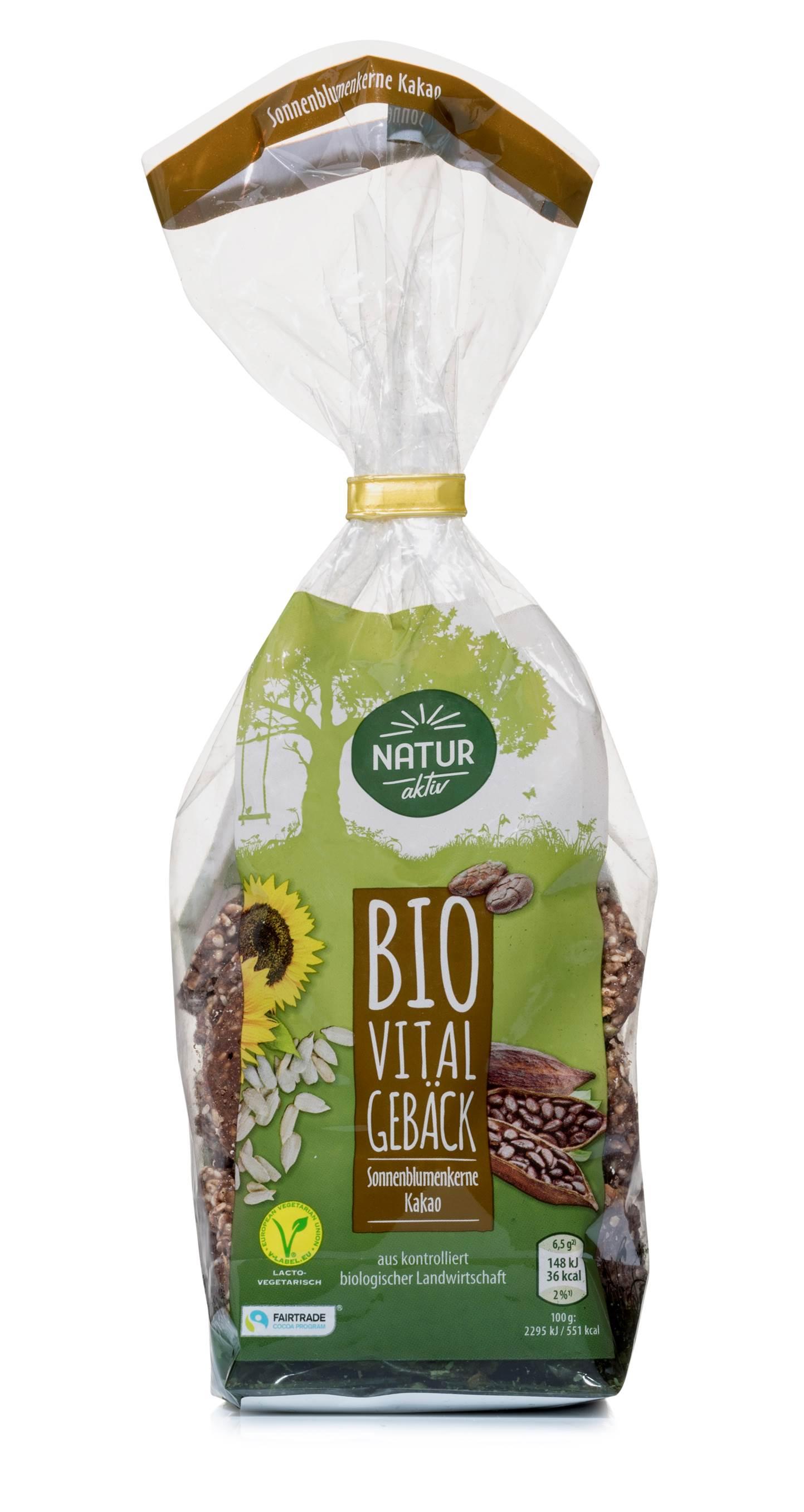 Vitalgebäck Sonnenblumenkerne Kakao