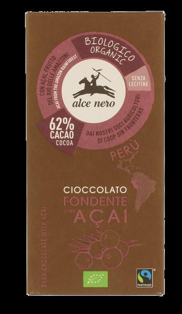 Alce Nero - Cioccolato Fondente Acai - 50gr