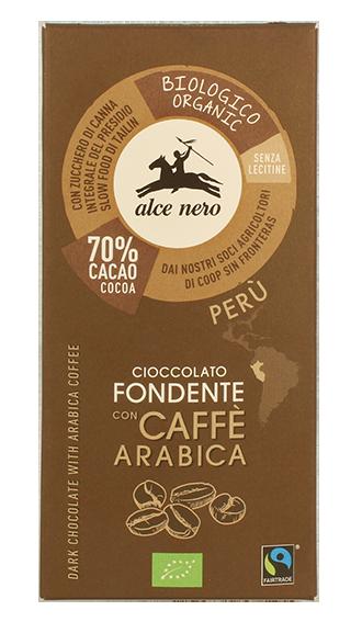 Alce Nero - Cioccolato Fondente con caffè - 50gr