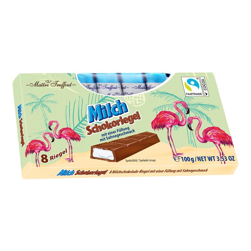 Flamingo Milchschokolade mit Milchcremefüllung