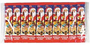 Weihnachtsmann, 10er-Packung, Vollmilchschokolade am Stiel