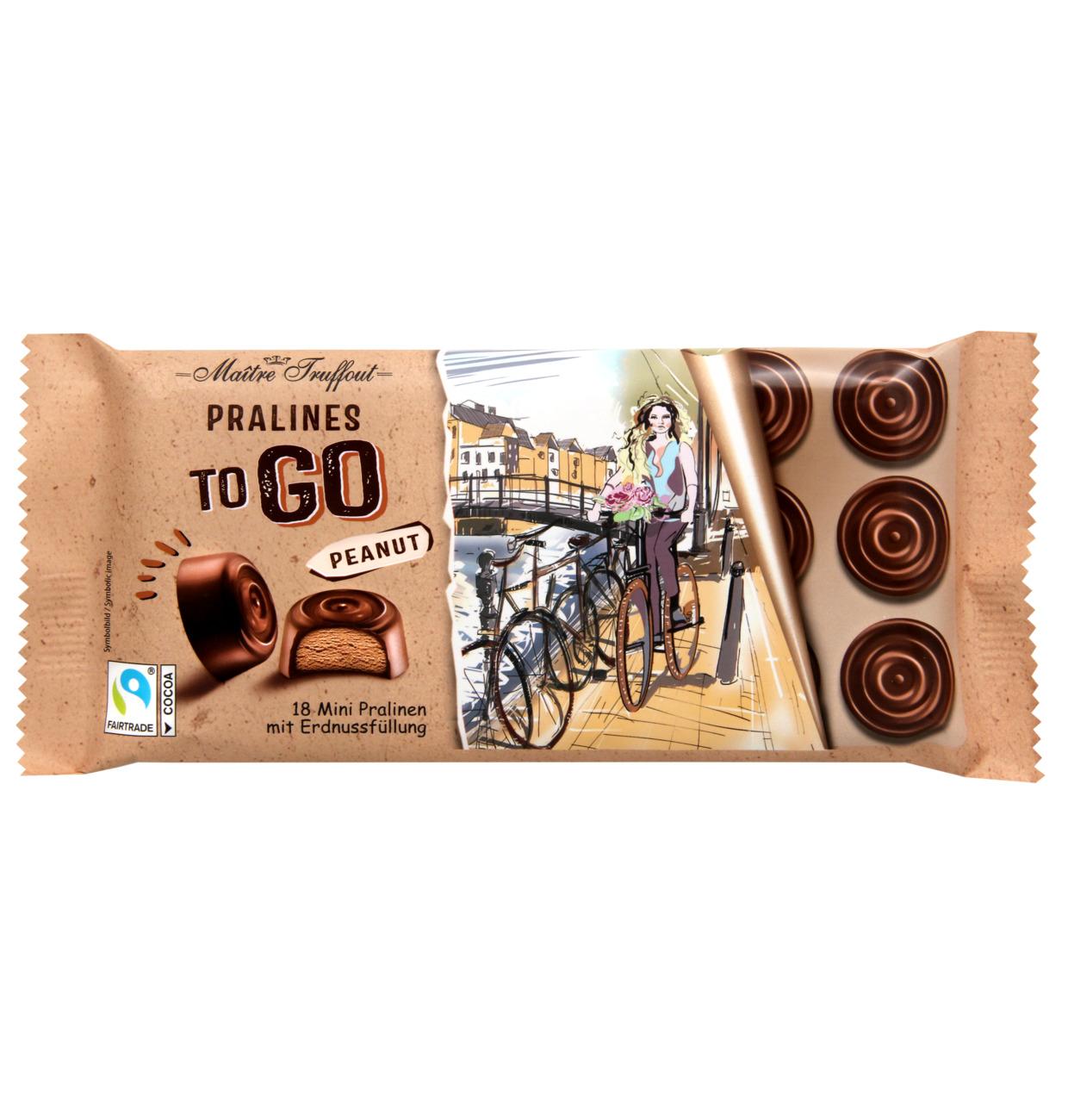 Pralinen TO GO Milchschokolade mit Erdnussfüllung