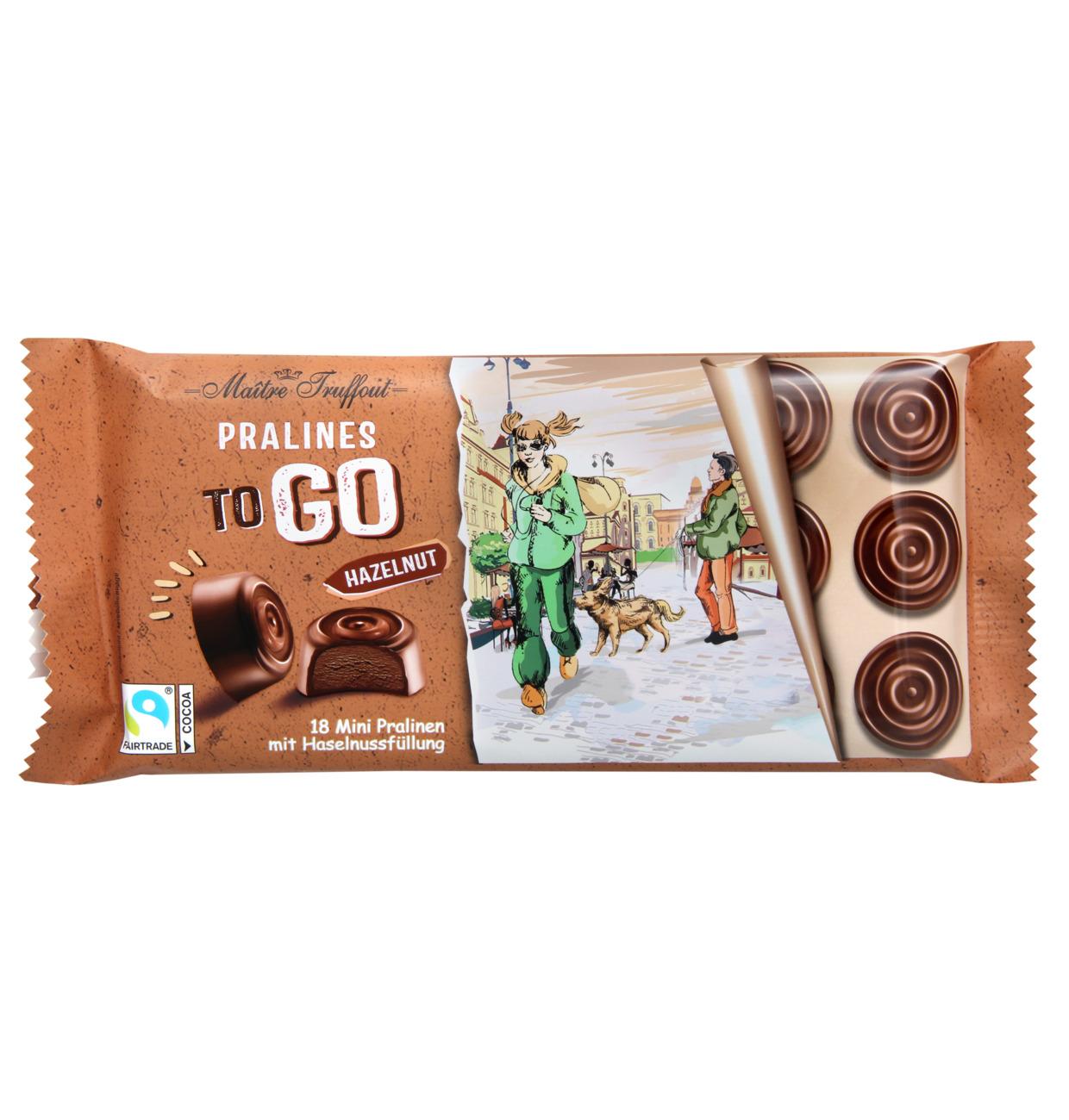 Pralinen TO GO Milchschokolade mit Haselnussfüllung
