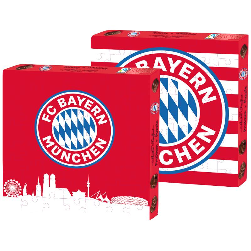 FC Bayern München Pralinen mit Milchfüllung und Puzzle
