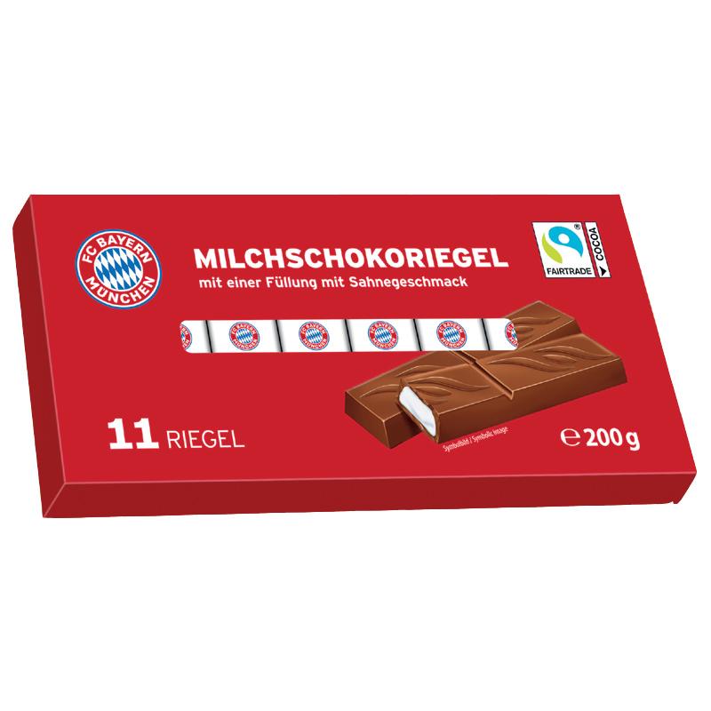 FC Bayern München Milchschokolade mit Milchcremefüllung