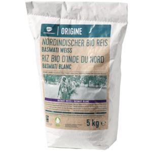 Nordindischer Basmati Reis, weiss