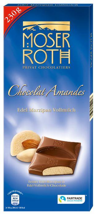 Chocolat Amandes Edel-Marzipan-Vollmilch