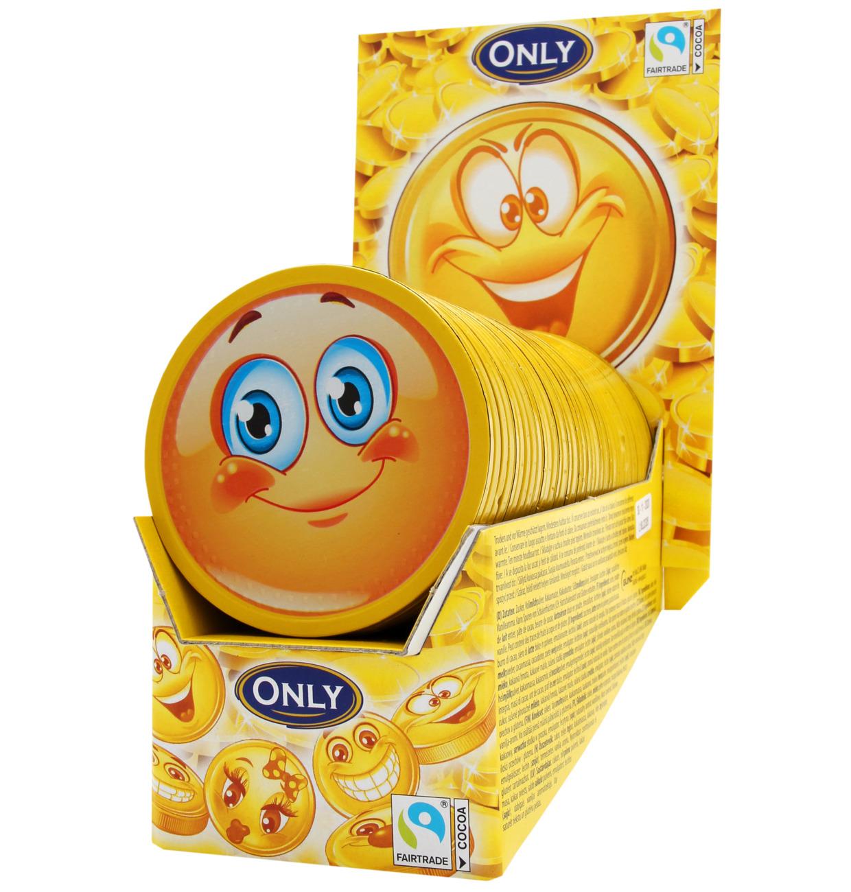 Emoji-Taler Milchschokolade Thekendisplay