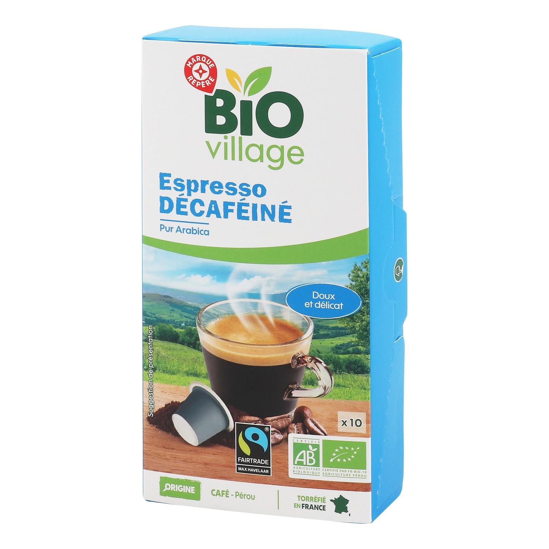 Café 10 capsules bio décaféinées 55g
