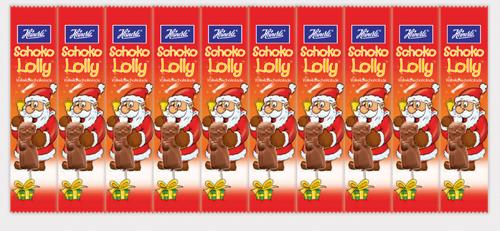 HEINERLE Choco Lolly Weihnachtsmann Vollmilchschokolade